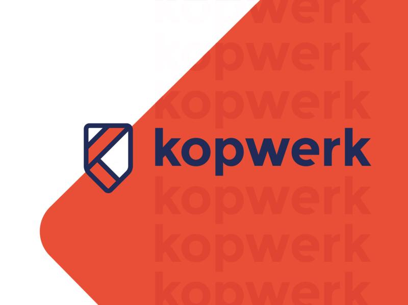 Kopwerk - Online marketing agency online marketing agency k logo shield logo k shield online marketeer online marketing cycling logo kopwerk logodesign logo