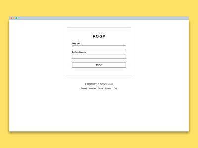 Website design and development for RO.GY design web development frontend minimal