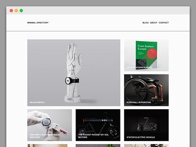 Web design & development for Minimal Directory kirby frontend design web development minimal blog minimal