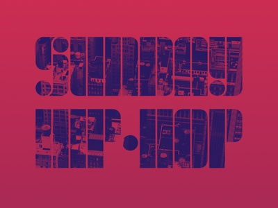 Artwork for Spotify playlist typography