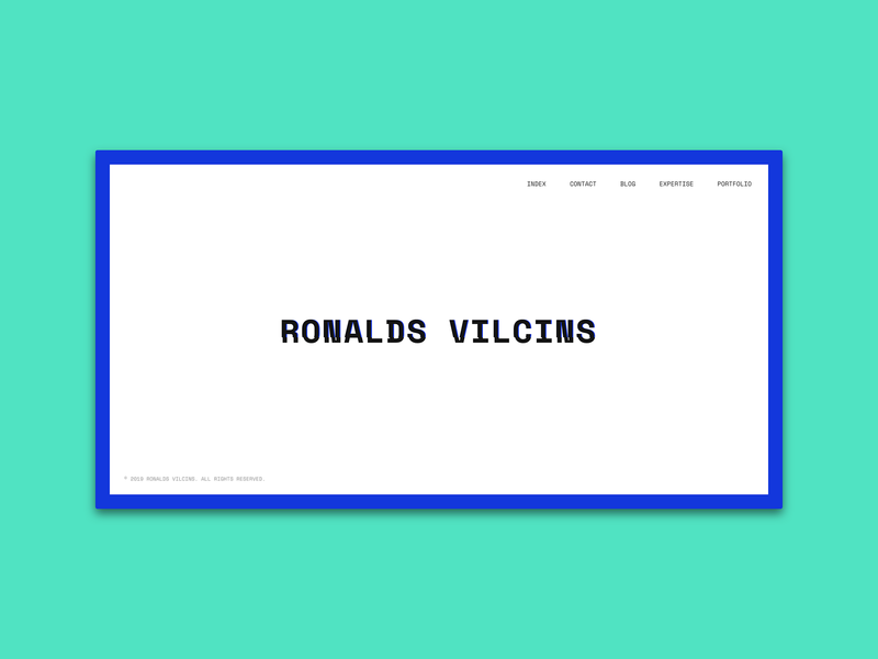 Ronalds Vilcins website personal space mono glitch