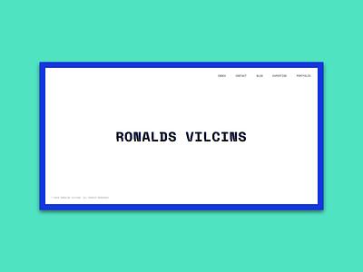 Ronalds Vilcins website personal space mono glitch