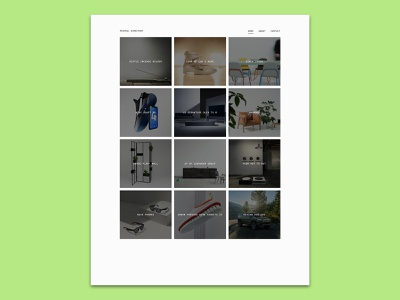 Minimal Directory V2 (WIP) design web development site minimal blog gallery ibm plex mono minimal