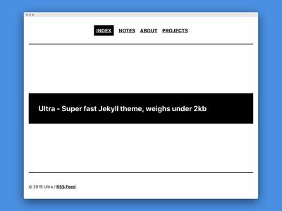 Ultra - Super fast Jekyll theme