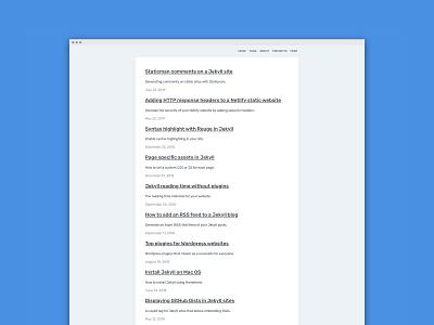 Personal blog redesign web development minimal jekyll