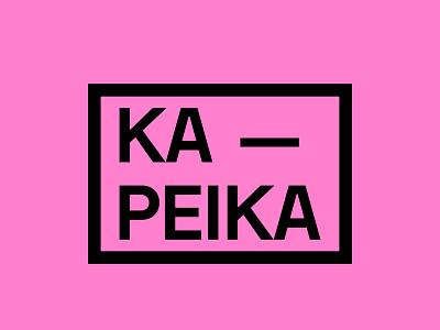 KA-PEIKA minimal branding and identity branding logo design logo