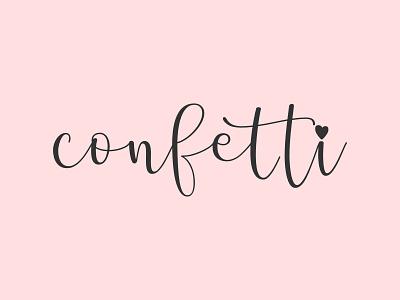 Confetti minimal branding logotype logo logo design