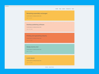 Colorie - Jekyll theme minimal frontend web development theme jekyll