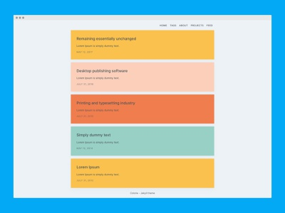 Colorie - Jekyll theme minimal frontend web development theme jekyll