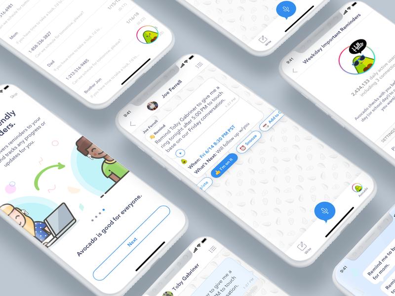Consumer Voice Mobile iOS App voicemail voice assistant ui app design