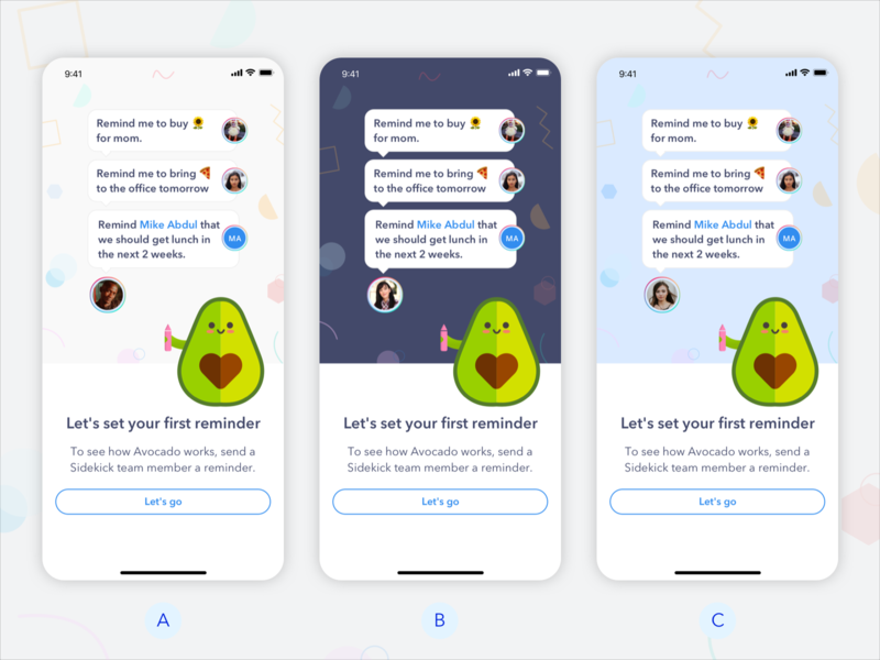 Option for onboarding screen voicemail voice assistant ui designer design