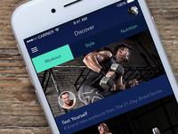 Fitness Dark iOS App