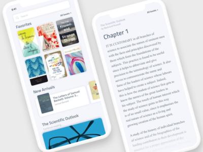 iOS Book Library ios library book designer remote designer freelance ui ux ios ios book library