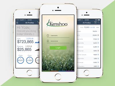 Kenshoo iOS app ux ui appstore app ios kenshoo
