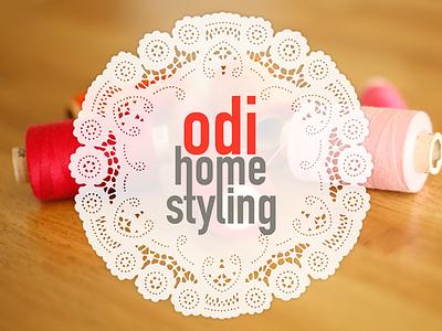 Odi - logo logo site ui ux design textile homestyling styling home odi