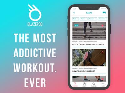 BlazePod android ios branding design mobile app app ux  ui