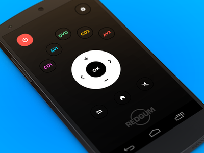 Remote Control App 📺 smart mobile flat design nexus 5 material design user experience user interface control remote