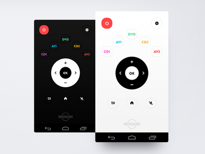 Dark and Light smart mobile flat design nexus 5 material design user experience user interface control remote dark light