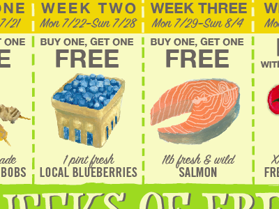 Five Week Coupon Mailer round one
