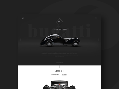 cars ui bugatti dark website classic-cars