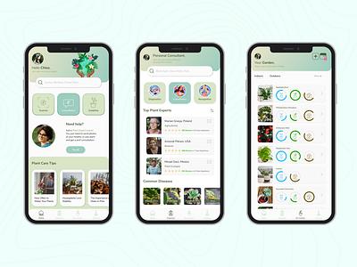 Plant Care Mobile App Design houseplant garden plantapp plantcare icon app ui design plant