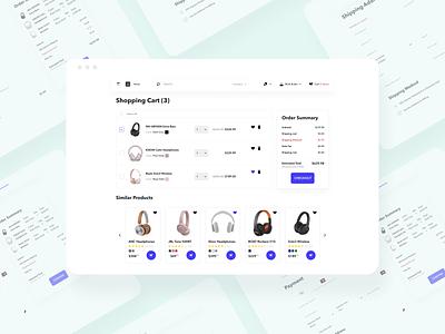 Shopping Cart Page Design designsystem figma website userinterface store webdesign headphones cart ecommerce shoppingcart ui