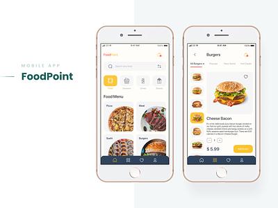 Food Delivery - Mobile App order menu design mobile delivery food cart app ui