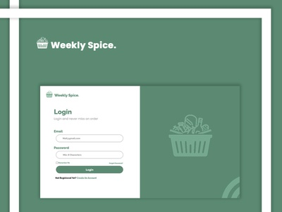 Online Store Login Mockup website app branding logo graphic design