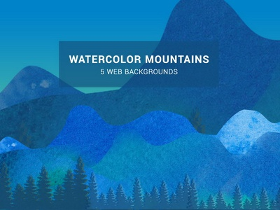 Watercolor Mountainscape Web Background web background watercolor trees tileable rustic pattern nature mountainious mountain landscape background