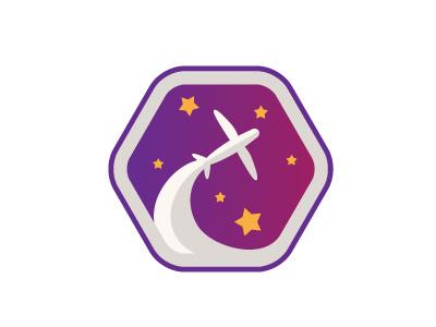Air Tales logo design logo star sky fly plane tales air airline