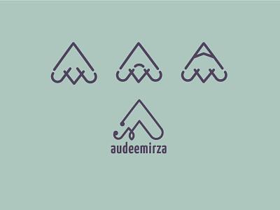 AudeeMirza 2.0 rebrand branding logo design logo