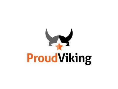 Proud Viking star horn viking logo design logo