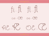 Piglence Light Ligatures
