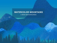 Watercolor Mountainscape Web Background