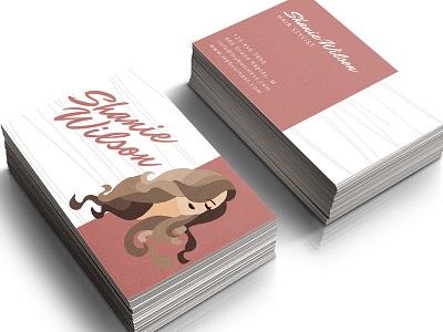 Hair Stylist Business Card business card mauve hair stylist woman template salon hair beauty