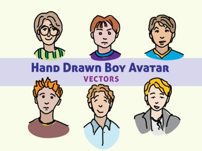 Hand Drawn Boy Avatars Cmprev