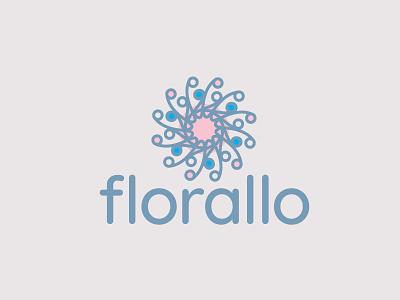 Florallo floral flower logodesign logo