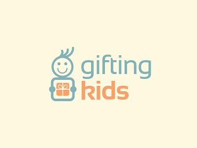 Gifting Kids gift kids logo design logo