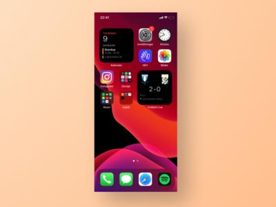Livescore widget interaction design figma widget ui app ios14