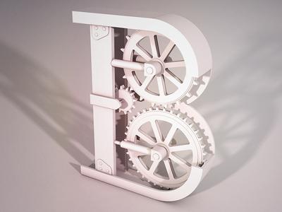 """Letter B"" - Mechanical Lettering Project Pt.2"