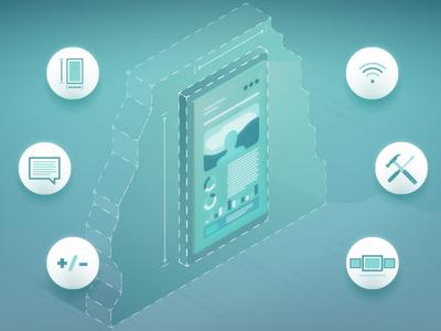 Interactive Experience Illustration