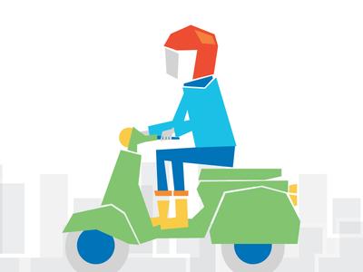 Man On Motorcycle tel-aviv municipality figure scooter man motorcycle