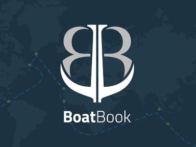 Boatbook Logo sailing sail navy logo book boat