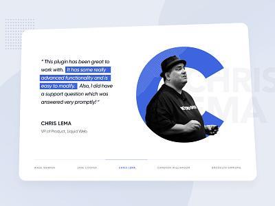 Testimonial Concept celebrity testimonial website clean ui design minimal creative