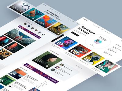 Podcast Joomla Template joomshaper blogger blog audioblog audio uiux uidesign flat clean design ui creative podcasting podcast
