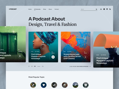 Podcast Joomla Template joomshaper blogger blog audioblog audio uiux uidesign flat clean design ui creative podcasting podcast