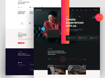 Wimble Joomla Template corporate agency uiux uidesign website design minimal creative joomla template joomla