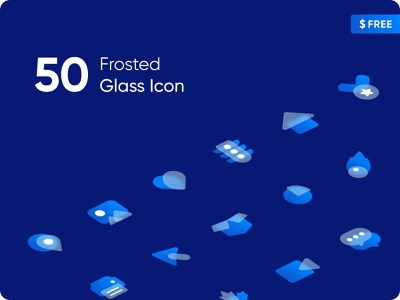 Frosted Glass Icon (Figma Community) frosted icon duotone icon frosted frosted glass creative clean design