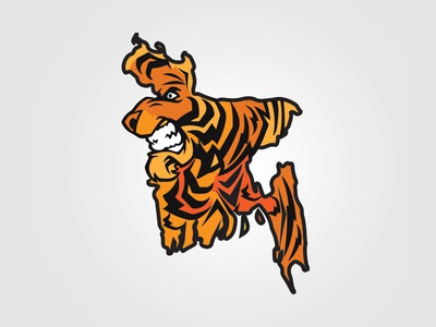 Bengal Illustration  creative illustration map bangladesh tiger