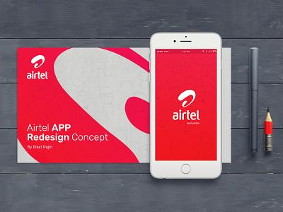 Airtel App Redesign redesign clean red concept minimal design app ux ui sketch airtel